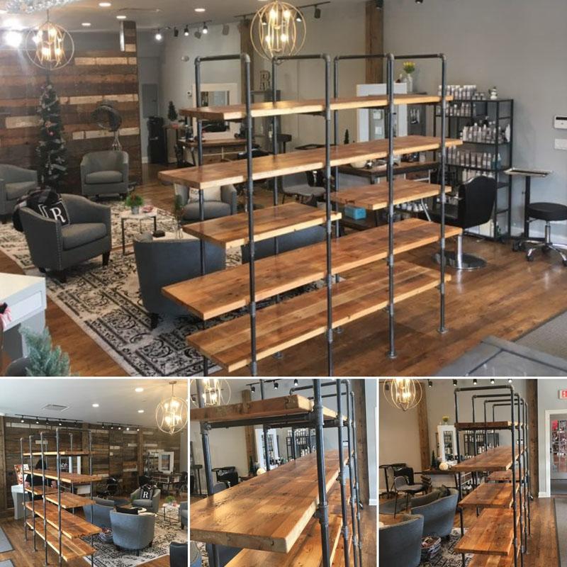 Custom Shelves. Salon